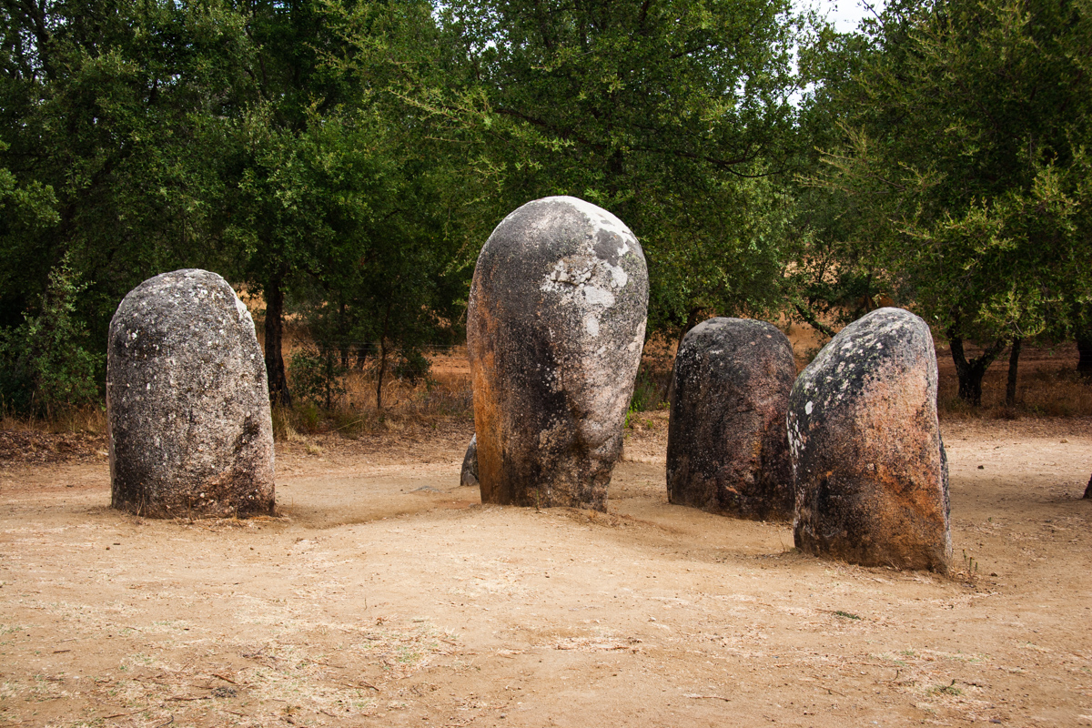 Cluster of Smaller Menhirs