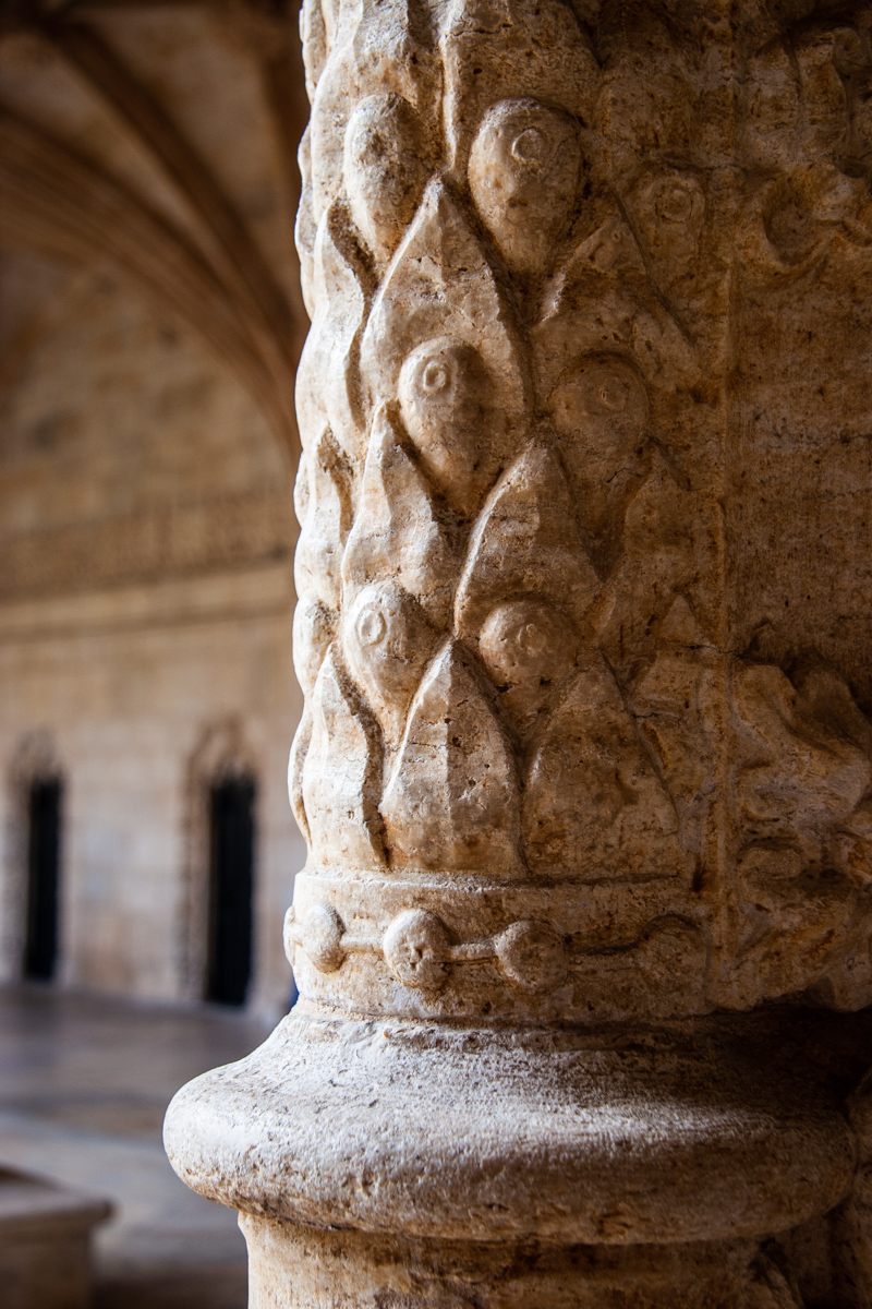 Pillar with Leaf Motif
