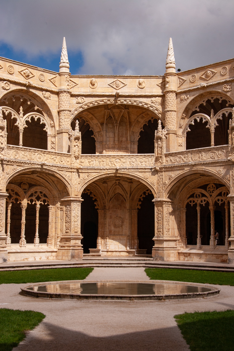 Cloister Arches and Reflectng Pool
