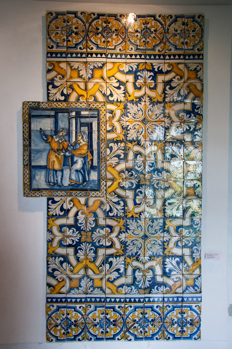 17th Century Pattern Tile Panel with Registo