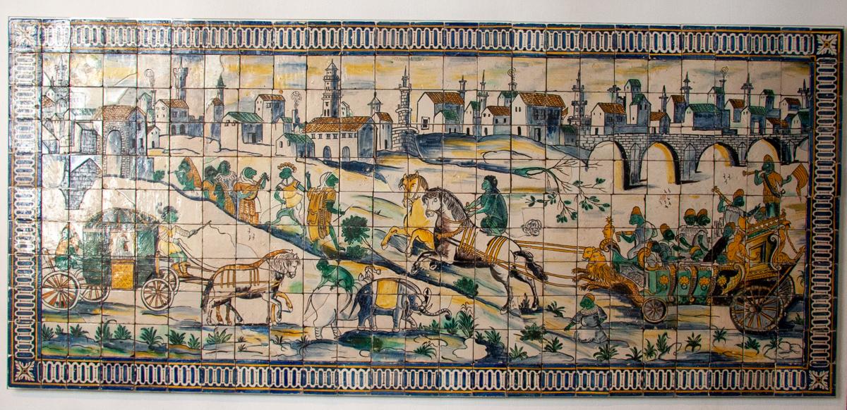 17th Century TIle Panel