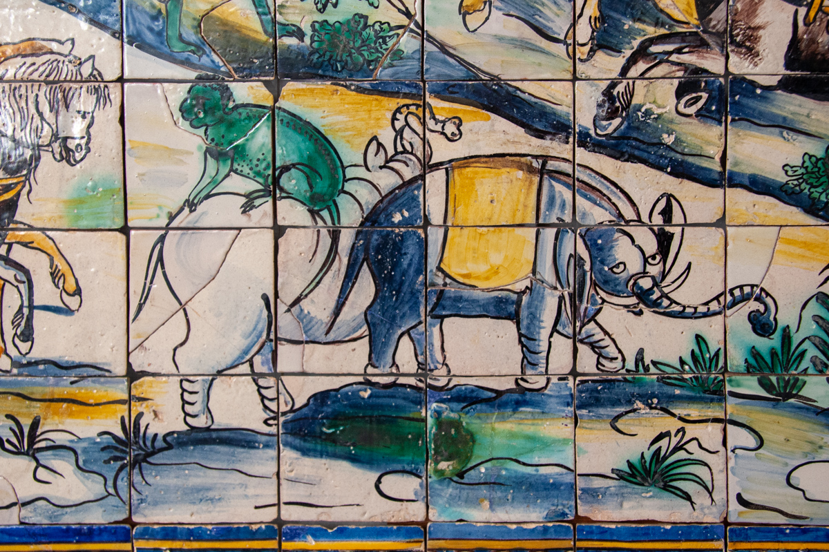 The Chicken's Wedding Tile Panel Detail