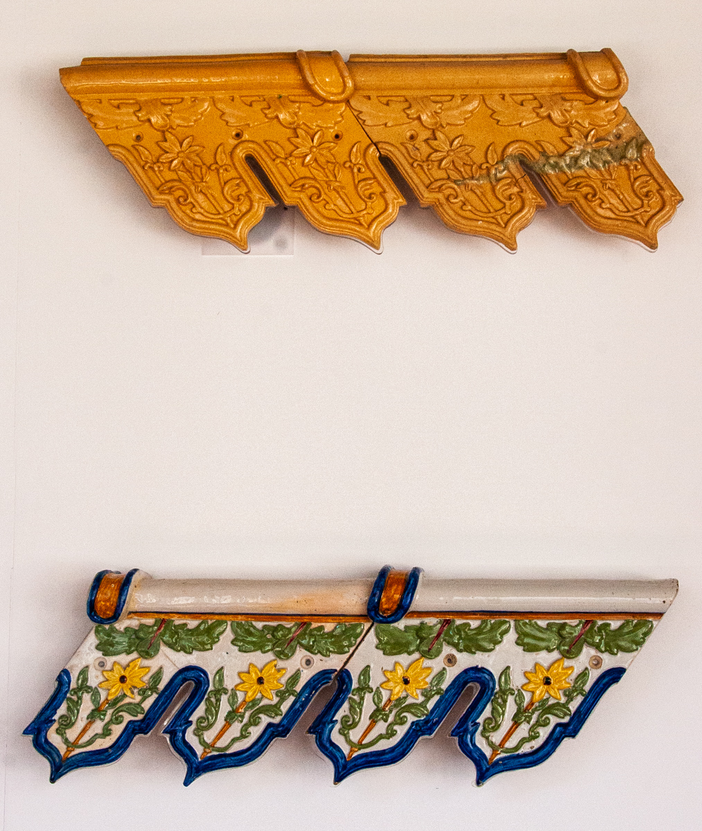 19th Century Molded Eaves Tiles