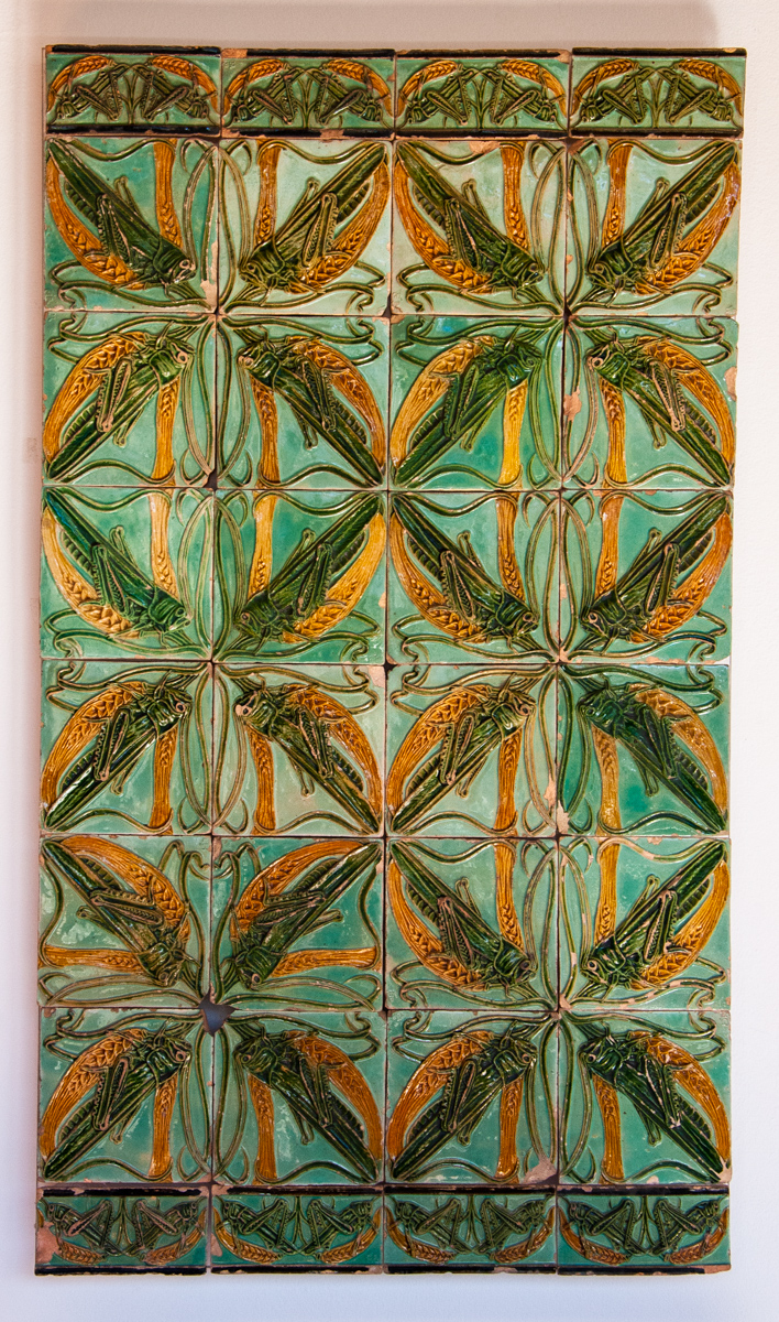 19th Century Tile Panel