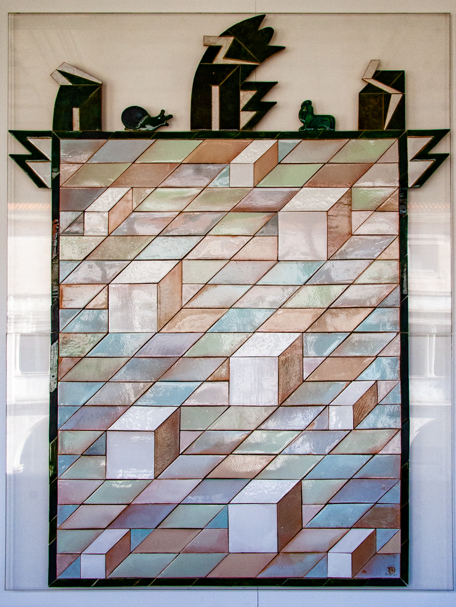 20th Century Tile Panel: Composition