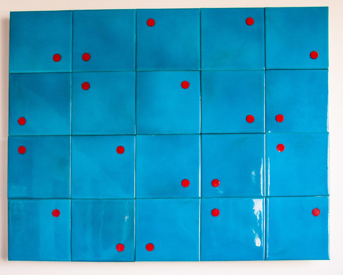 20th Century Tile Panel: Iznik Tiles