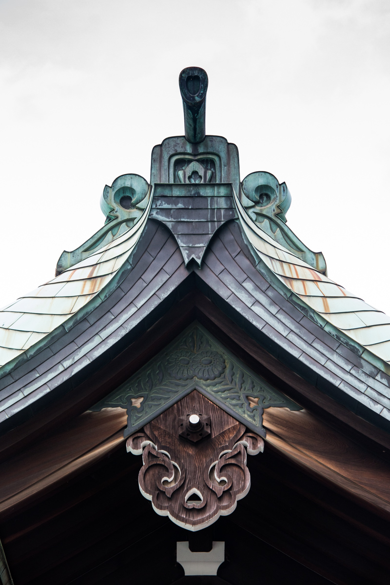 Kaguraden Roof Detail