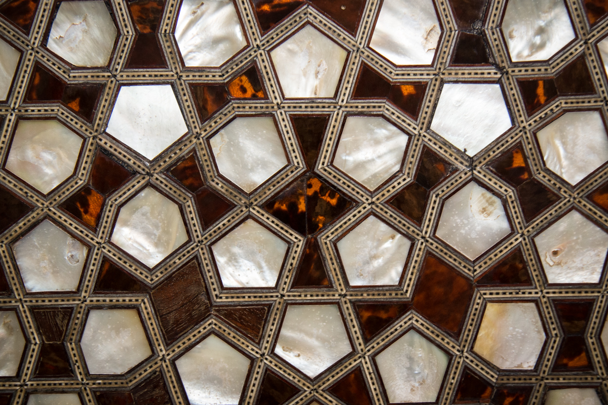 Tortoiseshell and Mother of Pearl Inlay Detail