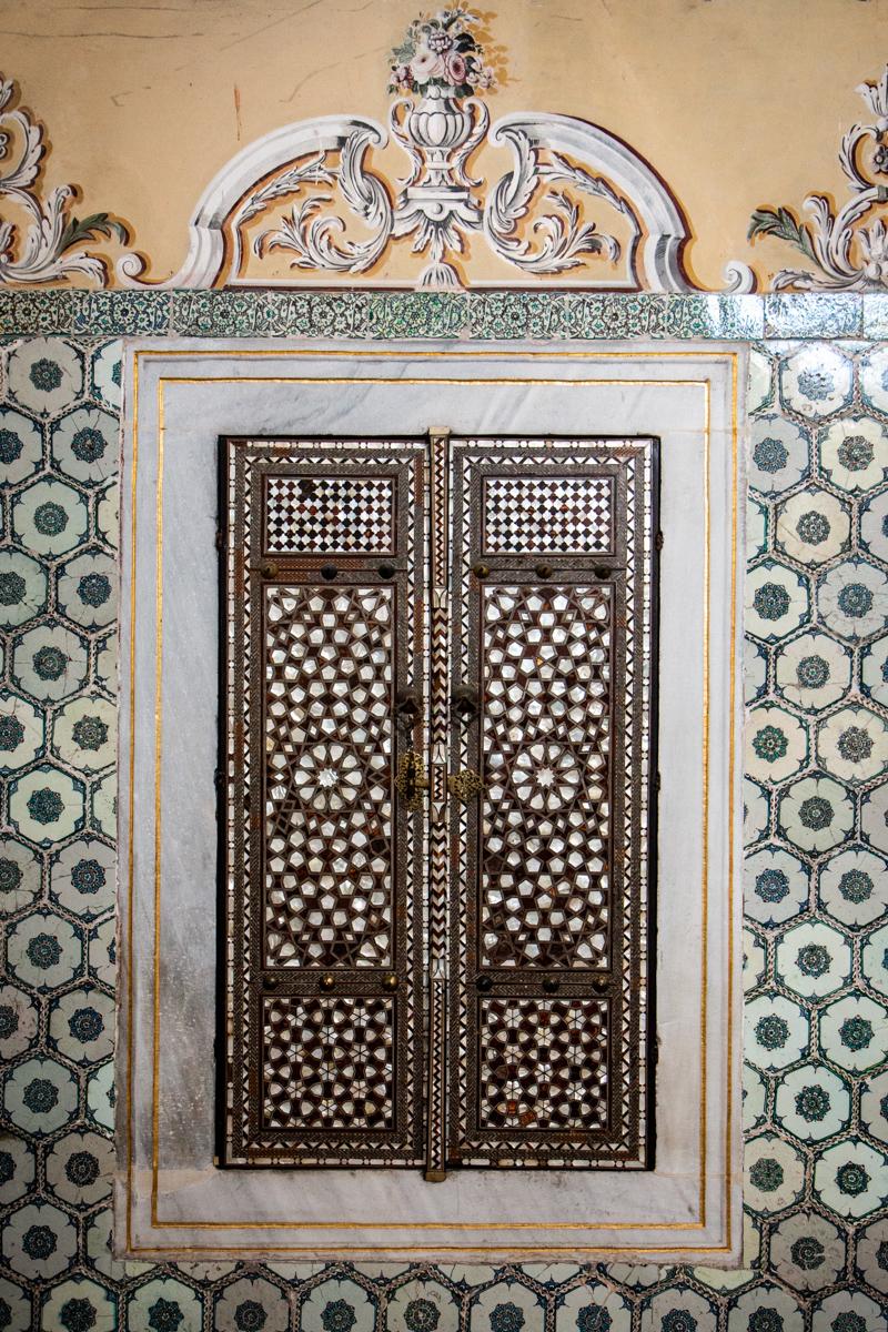 Inlaid Door Decoration