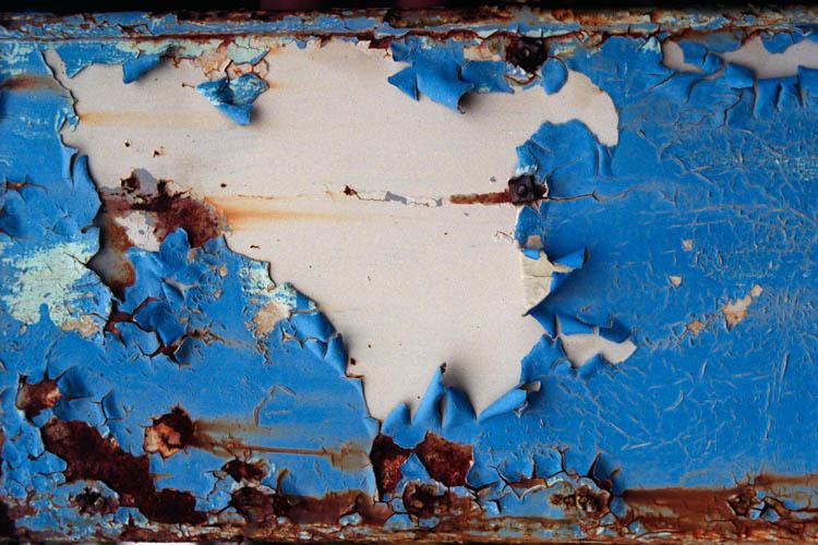 Blue & White Peeling Paint